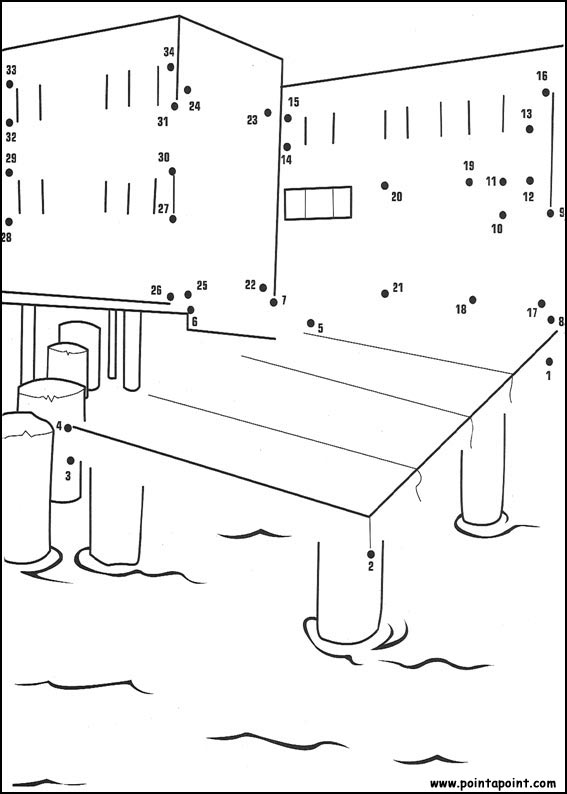 harbor Printable dot to dot 1-15 number