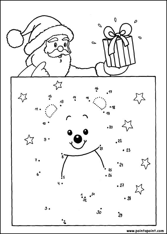 santa ans snowman Printable dot to dot 1-15 number