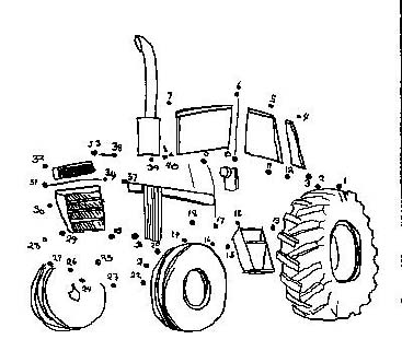 tractor printable dot to dot – connect the dots 1-40 numbers