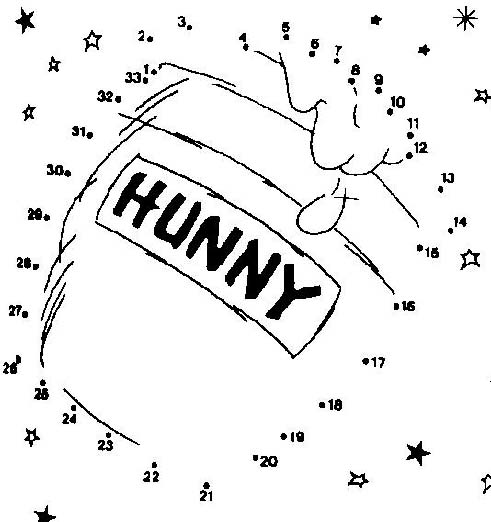 winnie the pooh hunny printable dot to dot – connect the dots 1-30 numbers