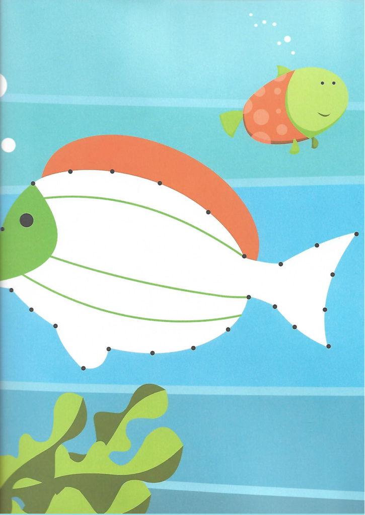 big fish sea animal printable dot to dot – connect the dots numbers 1- 10