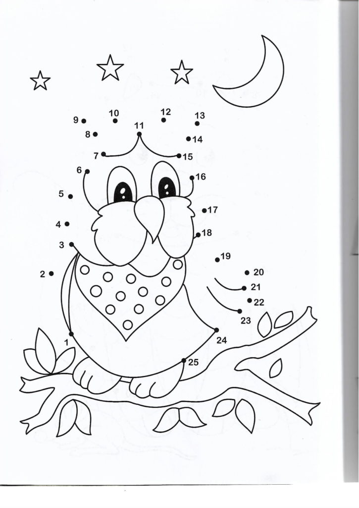 bird animal printable dot to dot – connect the dots numbers 1-25