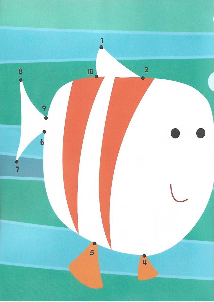 fish sea animal printable dot to dot – connect the dots numbers 1- 10