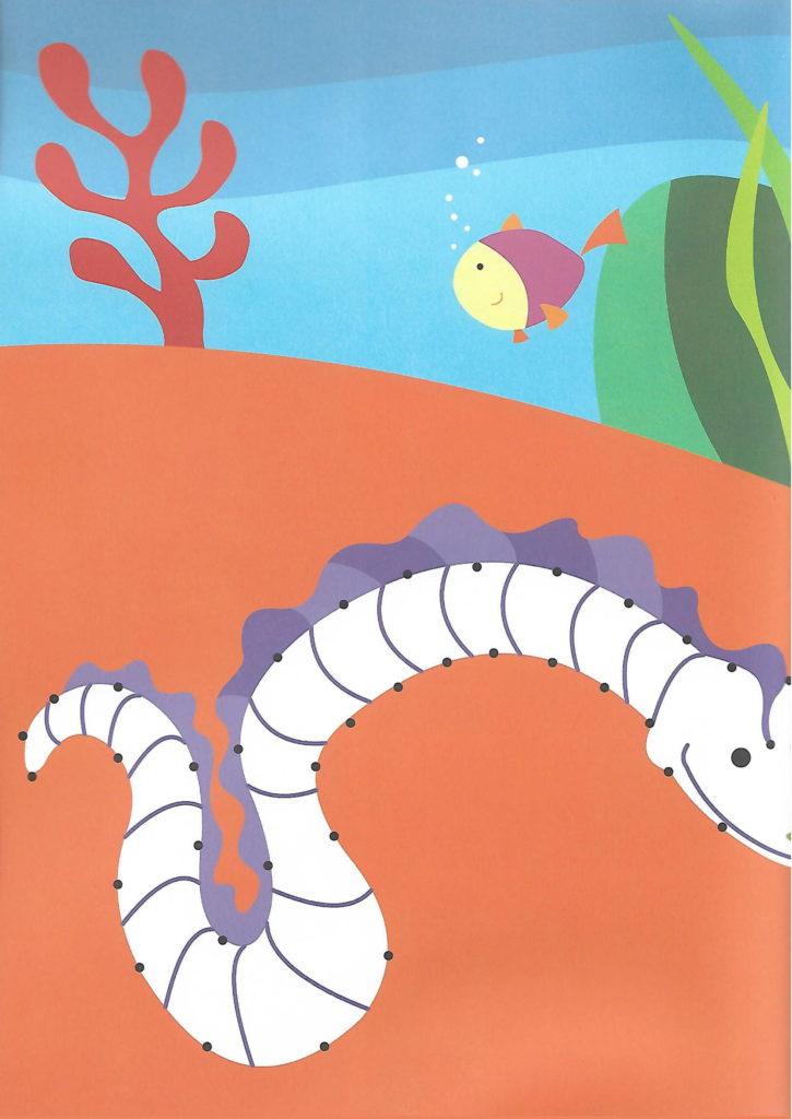 sea snake sea animal printable dot to dot – connect the dots numbers 1- 10