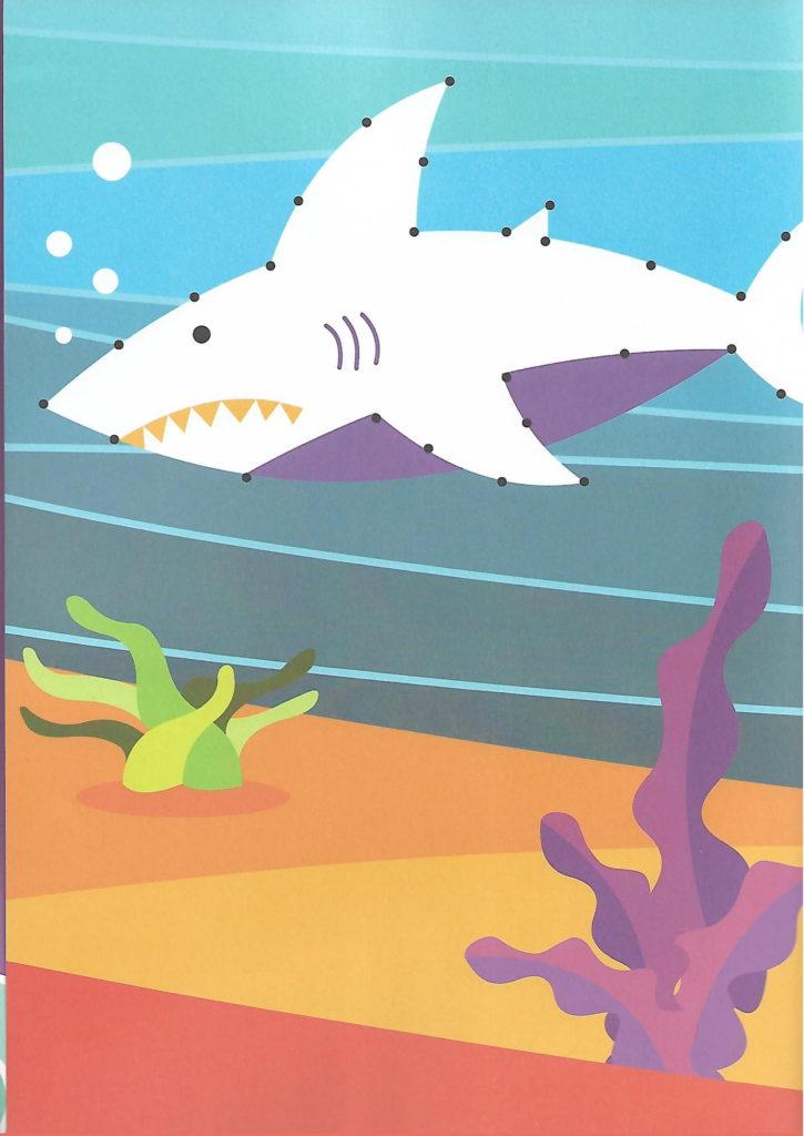 shark sea animal printable dot to dot – connect the dots numbers 1- 10