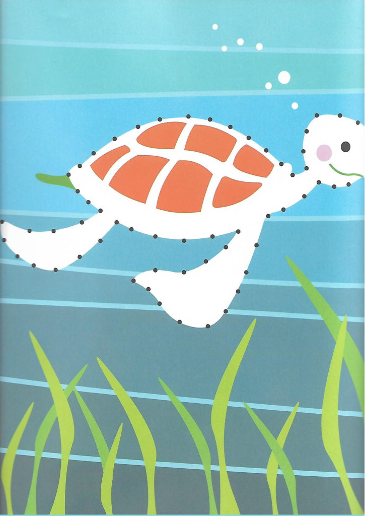 turtle sea animal printable dot to dot – connect the dots numbers 1- 10