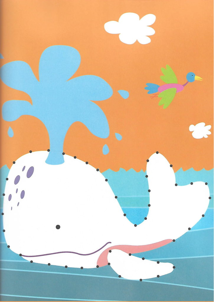 whale sea animal printable dot to dot – connect the dots numbers 1- 10