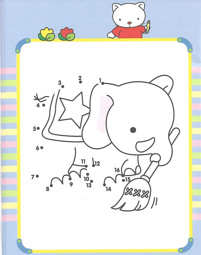 elephant animal printable dot to dot – connect the dots numbers 1-15