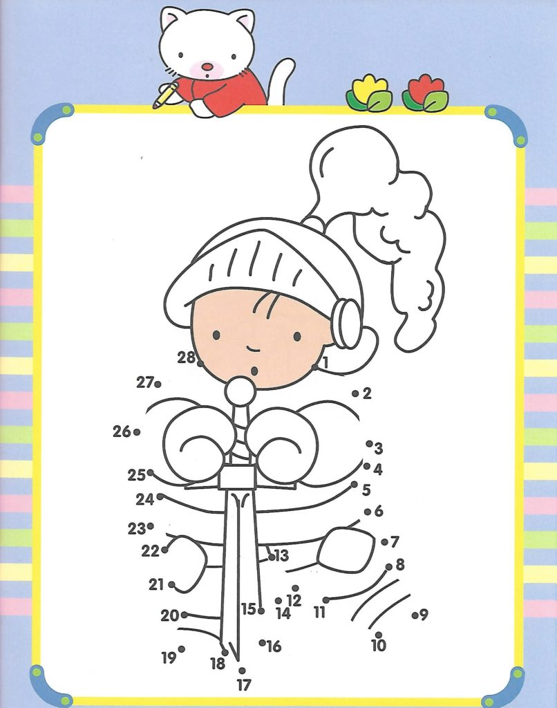 kid knight prince printable dot to dot – connect the dots numbers 1-30