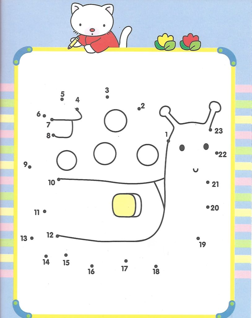 snail animal printable dot to dot – connect the dots numbers 1-20
